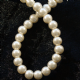 4mm Glass Pearls. Ivory Colour.